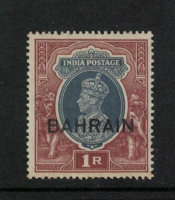 Bahrain G V1 1940 1R Grey and Red Brown  S.G. 32  Mint Hinged Cat £10.00