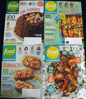 FOOD NETWORK Magazine April, May, June, July/August - 2017 Lot of 4
