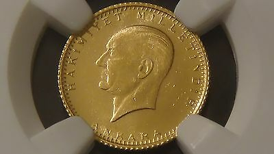 1923 44Turkey G25K Gold Ngc Ms 64 Coin