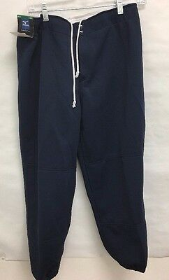 NWT Mizuno Women's Select Non-Belted Low Rise Fastpitch Pant Navy Sz: L, (BS)
