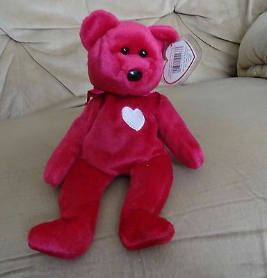 TY Beanie Baby - Retired - Valentina- Bear  - with both tags