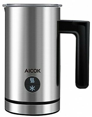 Aicok Milk Frother, Stainless Steel Electric Milk Steamer - 300ML High Heater