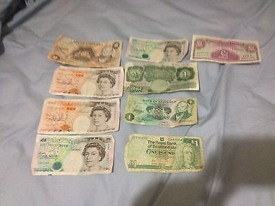 British Pound and Royal bank of scotland paper money lot $44 face