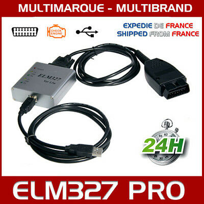Valise Interface Elm327 Pro Usb Voiture Scanner Obd Obd2 Diagnostic Delphi Vcds