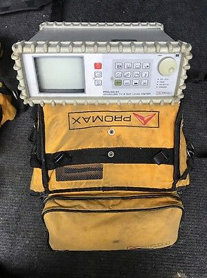 Promax Prolink-3c+ advanced colour Sat level and TV meter with carry Bag