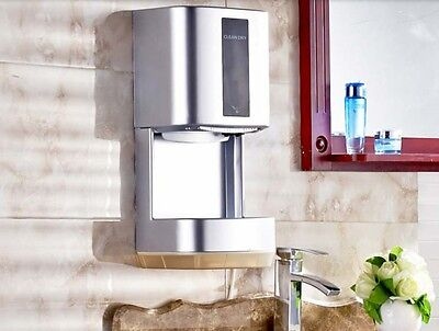 Luxury Silvery Bathroom Wall Mounted Automatic Induction Hand Dryer Machine