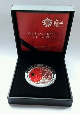Alderney Remembrance Day POPPY £5 five pound coin 2013 PROOF WW1 - Royal Mint #1