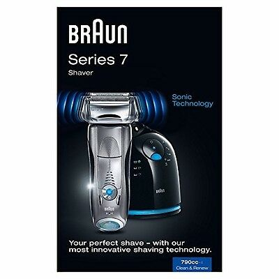 Braun Series 7 790-4 CC Men's Electric Foil Shaver with Clean and Charge Station