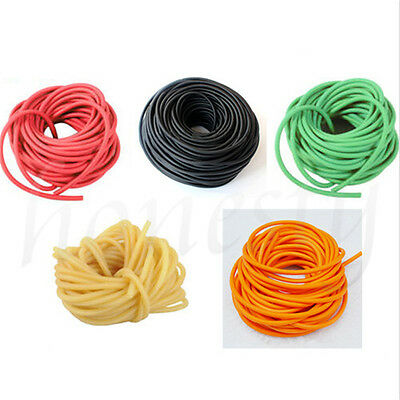 1/3M Natural Elastic Latex 1745 Rubber Band Tube for Hunting Slingshot Catapult