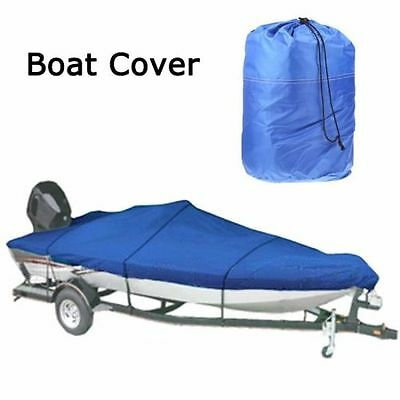 Hot 20-22Ft Waterproof 210D Trailerable Heavy Duty Boat Cover V-hull 100 Beam US