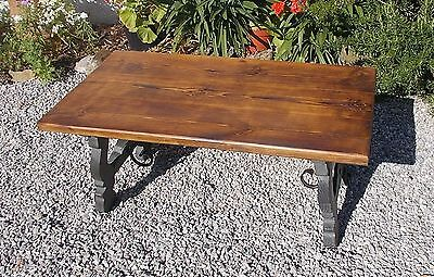 vintage French coffee table, side table, lamp table