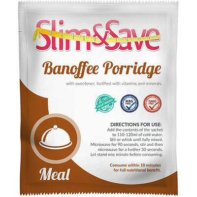15x Slim and Save VLCD Breakfast Banoffee Porridge (MRP, Lot 4) * Free Postage *