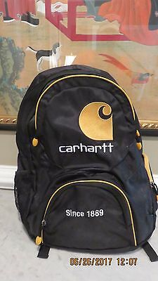 Carhartt Yellow and Black Backpack Laptop Book Bag 1889 NEW
