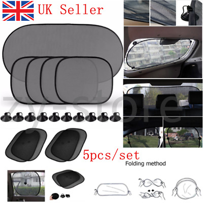 Baby Van Car Window Sun Shade Visor Screen Protector Kids Rear Side Blind Black