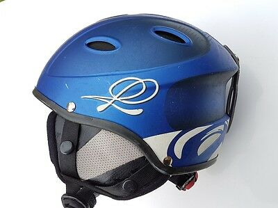 B Square Ski SnowBoard Snow sports Helmet size 51 - 53 cms Gloss Blue Skiing