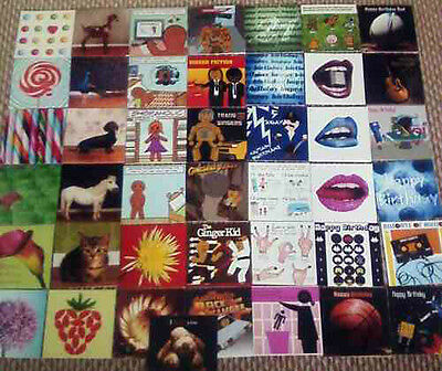 Joblot 60 Assorted Birthday/greetings Cards With Envelopes