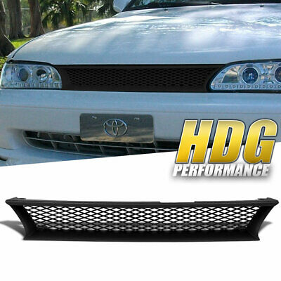 Mesh Style Abs Front Hood Grill Grille Replacement For 93-97 Toyota Corolla