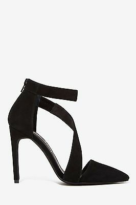 254b0669297 Jeffrey Campbell Septiva Black Suede Heels Pump Exclusively 4 Nasty Gal   145 7