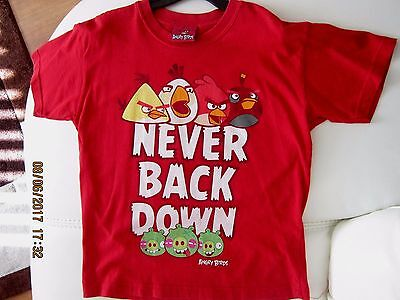 """""""angry Birds"""" T-Shirt Age 7 - 8 Yrs"""