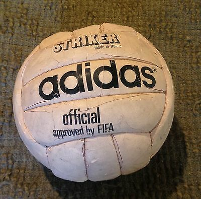 officia adidas matchball Striker signed by Liverpool Players 1977/78