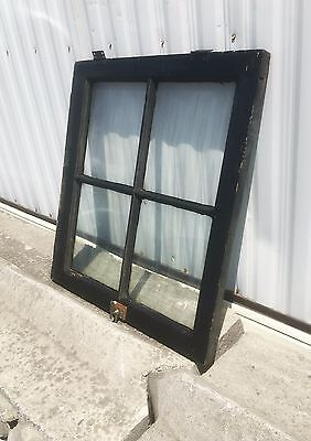 Antique Black Window Frame with Glass Windows, Unique Picture Frame