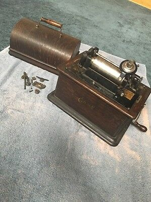 Antique/Vintage Edison Standard Phonograph Model C Estate Find For Repair/parts