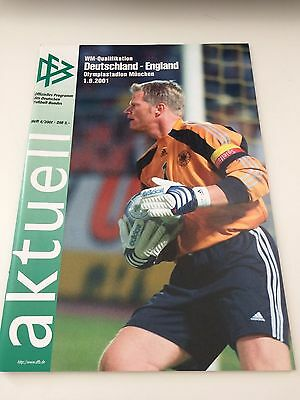 GERMANY v ENGLAND World Cup Qualifier 2001 Famous 5-1 Win *Good Cond*
