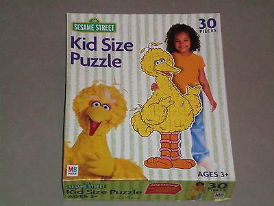 RARE - MB Puzzle 30 Large Pieces  SESAME STREET - BIG BIRD -  AGES 3+ - COMPLETE