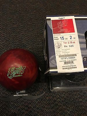 Storm Fight Candy Apple Red Bowling Ball 15 lb NEW Undrilled