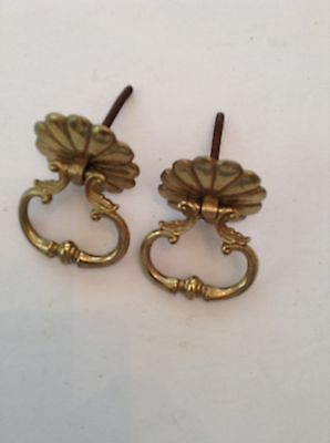 Pair of brass cabinet or drawer pulls