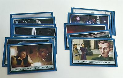 Star Wars ROGUE ONE Mission Briefing Blue Parallel Lot of 13 Trading Cards