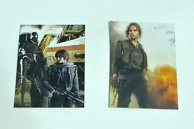Star Wars ROGUE ONE Mission Briefing Montage Lot of 2 Insert Trading cards