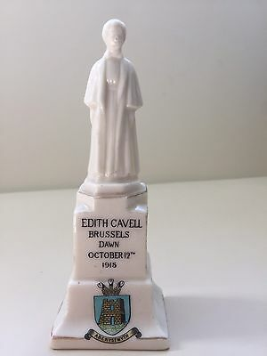 Willow Art Model of Edith Cavell Statue - WW1 - Aberystwyth crest