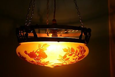 CEILING LIGHT FITTING signed GALLE – PLAFONNIER