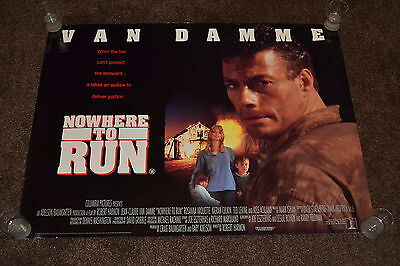 NOWHERE TO RUN original cinema Poster 1993 UK quad Jean-Claude Van Damme