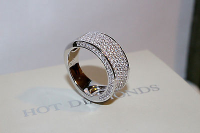 925 Sterling Silver Ring Diamond Look Eternity Wedding Band, Size 9/S