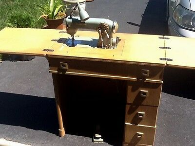Vintage Durkopp 1001 Sewing Machine with Cabinet