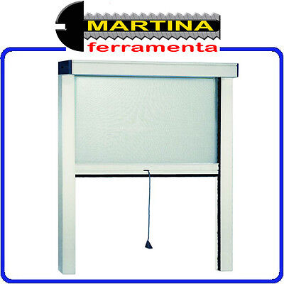 Mosquito Net Aluminum Thin Vertical White Color Cms. 120X250