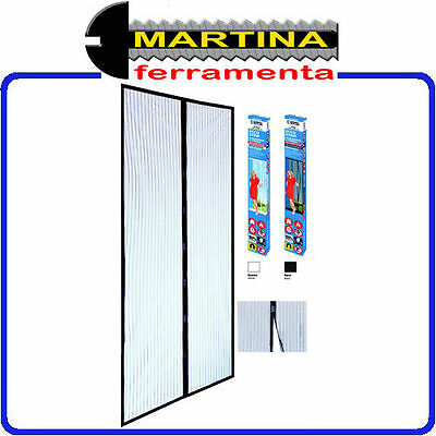 Mosquito Net Striped Magnetic 2 Strips Black Cm 100X220