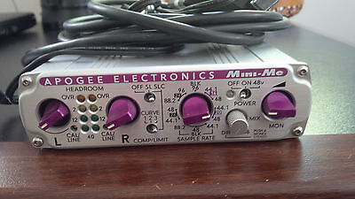 APOGEE Mini Me  2 Channel 24 Bit A/D Converter with mic / inst Preamp