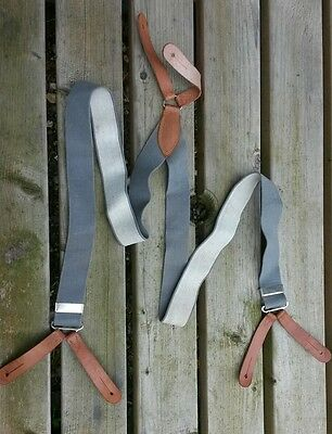 Very Nice Pair of Vintage British  Army Trouser Braces 1951 Dated Long.
