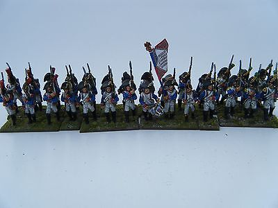28mm Metal French Infantry Battalion 1800-1806 painted
