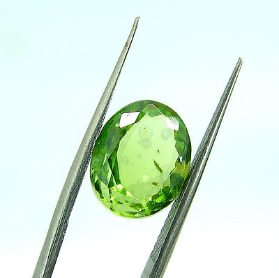 4.10 Ct Natural Oval Loose Green Peridot Gemstone Stone - 7553