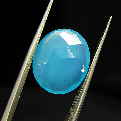 2.75 Ct Natural Blue Chalcedony Loose Faceted Gemstone Beautiful Stone - 10778