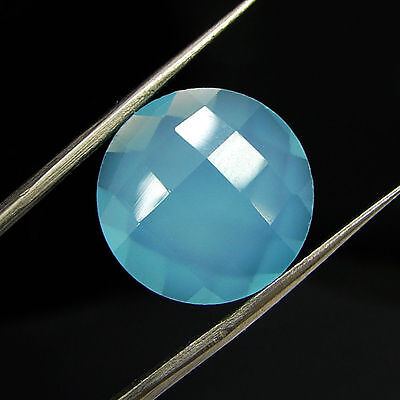 7.00 Ct Natural Blue Chalcedony Loose Faceted Gemstone Beautiful Stone - 10764