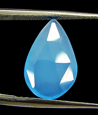 2.95 Ct Natural Blue Chalcedony Loose Faceted Gemstone Beautiful Stone - 10831