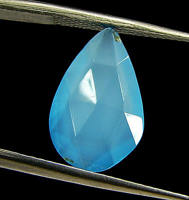 2.75 Ct Natural Blue Chalcedony Loose Faceted Gemstone Beautiful Stone - 10826