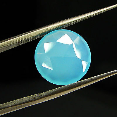 2.35 Ct Natural Blue Chalcedony Loose Faceted Gemstone Beautiful Stone - 10771