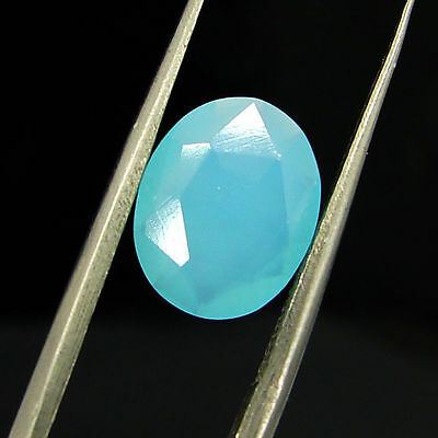 1.80 Ct Natural Blue Chalcedony Loose Faceted Gemstone Beautiful Stone - 10790