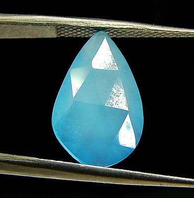 2.70 Ct Natural Blue Chalcedony Loose Faceted Gemstone Beautiful Stone - 10828